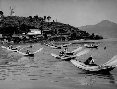 Patzcuaro Photograph - Tarascan Fishermen by Retro Images Archive