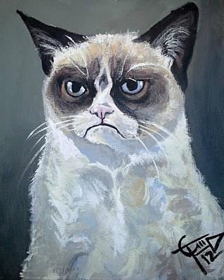 Tard - Grumpy Cat Print by Tom Carlton