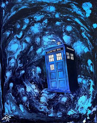 Dr. Who Painting - Tardis by Tom Carlton