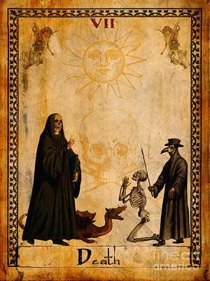 Angel Digital Art - Tarot Card Death by Cinema Photography