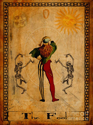 Jester Painting - Tarot Card The Fool by Cinema Photography