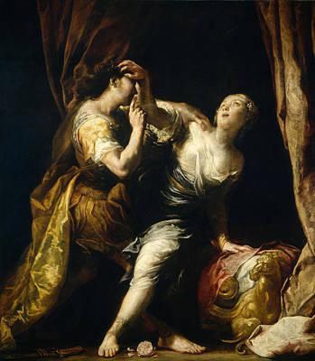 Lucretia Painting - Tarquin And Lucretia by Giuseppe Maria Crespi