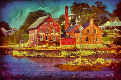 Landscape Photograph - Tarr And Wonson Fading by Jeff Folger