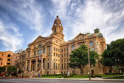 Tarrant County Courthouse II Print by Joan Carroll