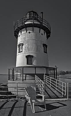 Sky Photograph - Tarrytown Lighthouse Bw by Susan Candelario