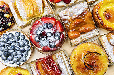 Danish Photograph - Tarts And Pastries by Elena Elisseeva