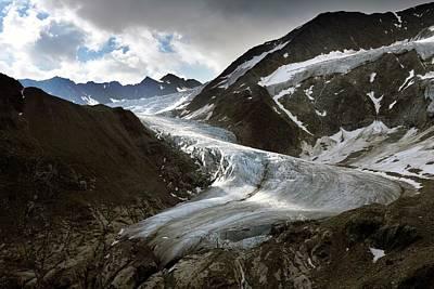 Taschach Glacier Print by Martin Rietze