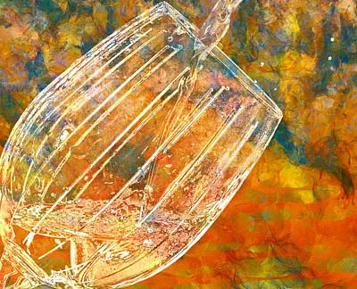 Pouring Wine Painting - Taste The Rainbow by Dan Sproul