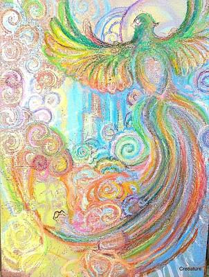 Pheasant Mixed Media - Taste The Sky Touch The Rainbow by Corina Graves