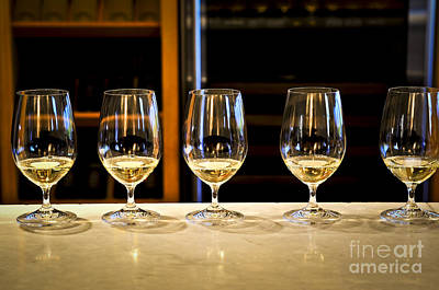 Crystal Photograph - Tasting Wine by Elena Elisseeva