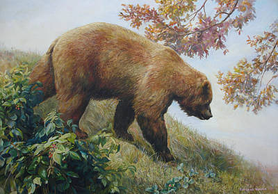 Tasty Raspberries For Our Bear Print by Svitozar Nenyuk