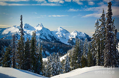 Tatoosh Winter Landscape Print by Inge Johnsson