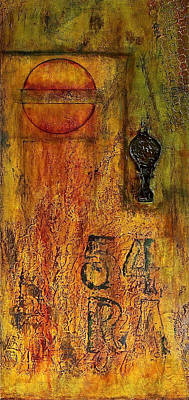Oil Mixed Media - Tattered Wall  by Bellesouth Studio