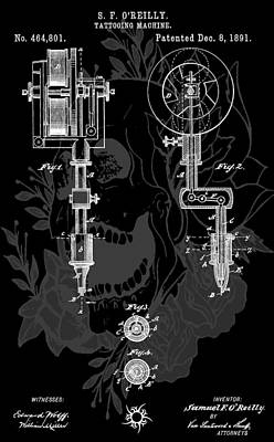 Tattoo Gun Patent Original by Dan Sproul