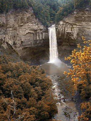 Taughannock Falls Park Print by Jessica Jenney