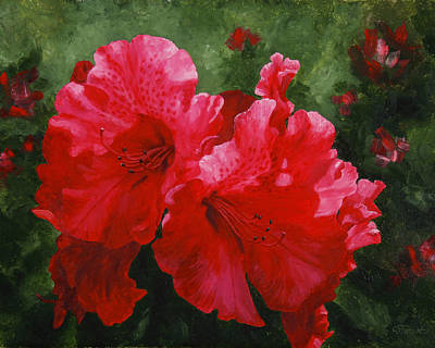Rhododendron Painting - Taurus by Crista Forest
