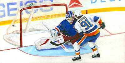 Ice Hockey Painting - Tavares  by Joe Maracic