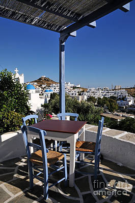 Travel Photograph - Tavern In Ios Town by George Atsametakis