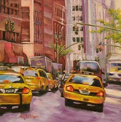 Gloria Painting - Taxi Taxi by Gloria  Nilsson