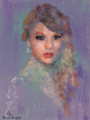 Taylor Swift Painting - Taylor by Scott Bowlinger