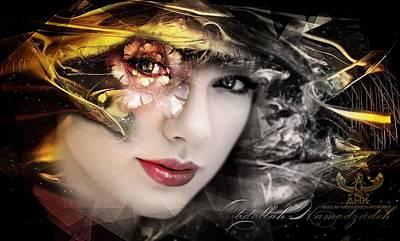 Taylor Swift Digital Art - Taylor Swift - Golden Art By A.h.k by Abdollah Hamodzadeh