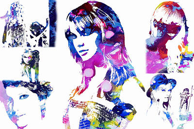 Taylor Swift Mixed Media - Taylor Swift - A Tribute by Doc Braham
