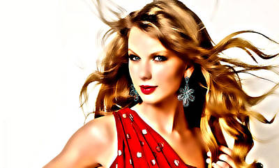 Taylor Swift Digital Art - Taylor Swift All Too Well by Brian Reaves