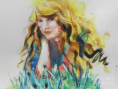 Taylor Swift Painting - Taylor Swift by Chrisann Ellis