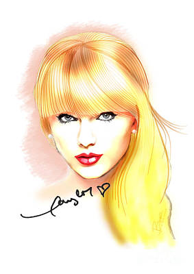 Taylor Swift Print by Dave Bear Atienza