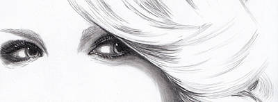 Taylor Swift Drawing - Taylor Swift - Eyes  by Furniga Niculina