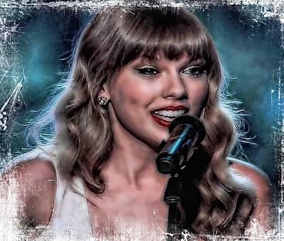 Taylor Swift Digital Art - Taylor Swift by John Delong