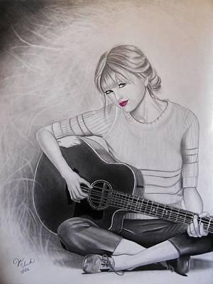 Taylor Swift Drawing - Taylor Swift  by Joseph Unruh