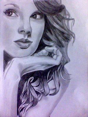 Taylor Swift Drawing - Taylor Swift by Mukul Dhankhar