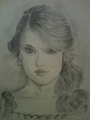 Taylor Swift Painting - Taylor Swift Portrait by Chayan Dutta