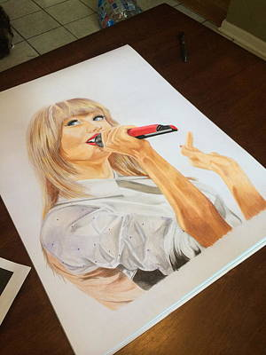 Taylor Swift Drawing - taylor swift Red by Richie Wentworth