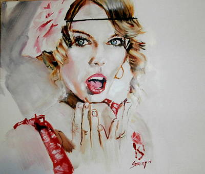 Taylor Swift Painting - Taylor Swift/seventeen by Martin Strong