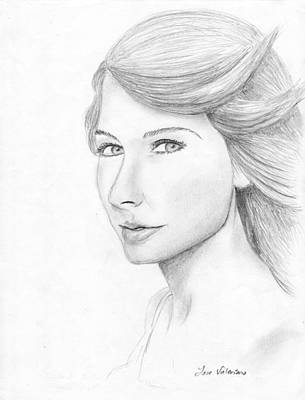 Taylor Swift Drawing - Taylor Swift Sketch by M Valeriano