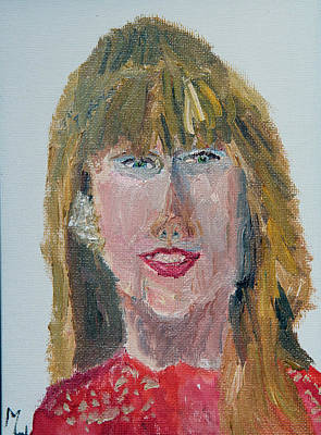 Taylor Swift Painting - Taylor Swift Sketch by Michael Helfen