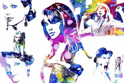 Taylor Swift Mixed Media - Taylor Swift - Watercolor by Doc Braham