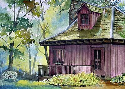 Nashville Painting - Tc Steele Bungalow Studio by Spencer Meagher