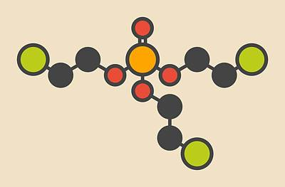 Icon Reproduction Photograph - Tcep Molecule by Molekuul