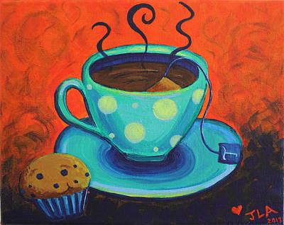 Muffins Painting - Tea For Talia by Jennifer Alvarez