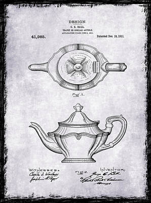 Coffee Grinders Photograph - Tea Pot Patent 1911 by Mark Rogan