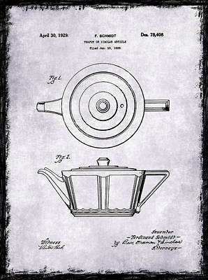 Coffee Grinders Photograph - Tea Pot Patent 1929 by Mark Rogan