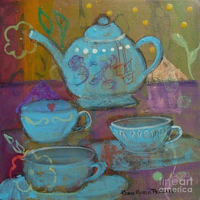Tea Painting - Tea Spot by Robin Maria Pedrero