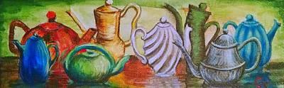 Tea Time Print by Gretchen  Smith