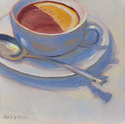 Painting - Tea With Lemon by Mary Byrom