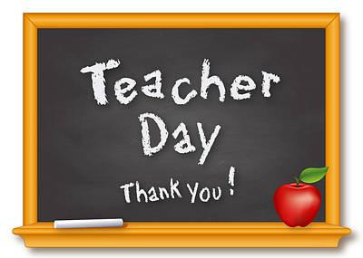 Oak Apple Day Digital Art - Teacher Day by J M Designs