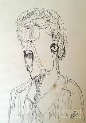Yak Drawing - Teacher by Diane Phelps