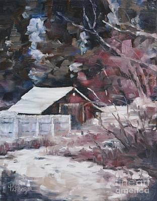 Teanaway Barn In Winter Original by Lori Pittenger